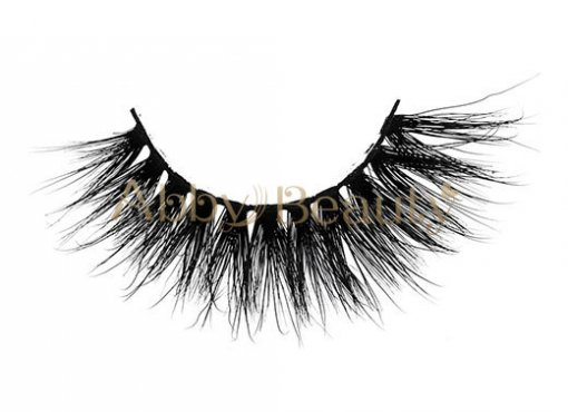 2018 Gorgeous Style 3D Clear Band Mink Strip Lashes / MH-039