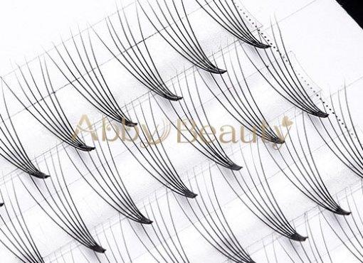 6D Premade Silk Fans Flare Cluster - eyelash extension,25mm