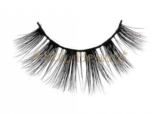 Best Supplier 3D Faux  Mink Strip Lashes With Private Label (MH092)