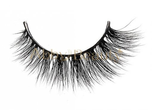 Best Supplier 3D Silk Mink Strip Lashes With Private Label  / MH-022